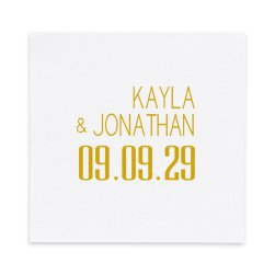 Soho Luxury Wedding AirLaid Napkin - Foil-Pressed