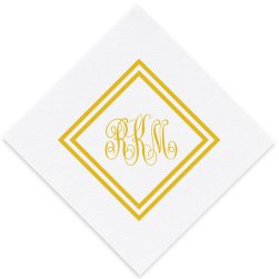 Albanza Monogram Luxury Airlaid Napkin - Foil-Pressed