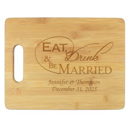 Wedded Bliss Cutting Board - Engraved
