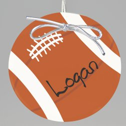 Football Keepsake Printed Ornament