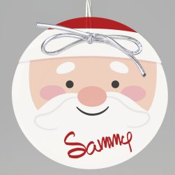Santa Claus Keepsake Printed Ornament