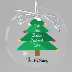 O Christmas Tree Keepsake Printed Ornament