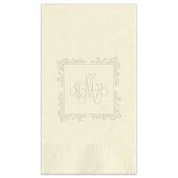 Delavan Framed Monogram Guest Towel - Embossed