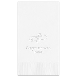 Graduation Guest Towel - Embossed