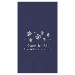 Yuletide Guest Towel - Foil-Pressed