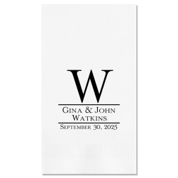 Established Guest Towel - Foil-Pressed