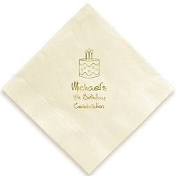 Birthday Napkin - Foil-Pressed