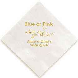 Blue or Pink Baby Shower Napkin
