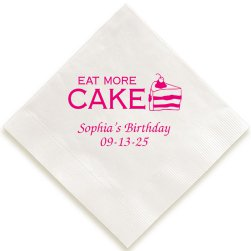 Birthday Cake Napkin - Foil-Pressed
