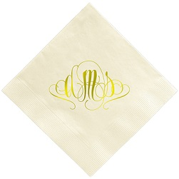 Madrid Monogram Napkin - Foil-Pressed