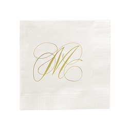 Flourish Napkin - Foil-Pressed