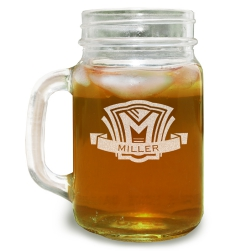 Shield Mason Jar