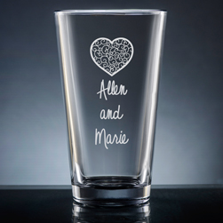 Nuptial Pint Glass