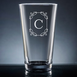 Stately Initial Pint Glass