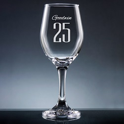 Numero Wine Glass with Stem