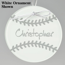 Baseball Keepsake Ornament - Circle
