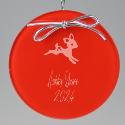 Baby Deer Keepsake Ornament - Circle