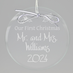 Couples First Keepsake Ornament - Circle