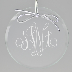 Elise Monogram Keepsake Ornament - Circle
