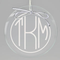 Terrace Monogram Keepsake Ornament - Circle