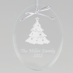 Christmas Tree Keepsake Ornament - Oval
