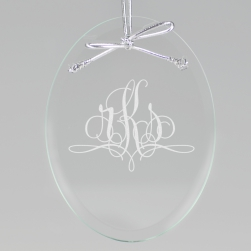 Paris Monogram Keepsake Ornament - Oval