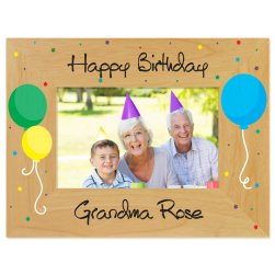 Birthday Balloons Printed Picture Frame