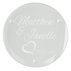 True Love Glass Coaster