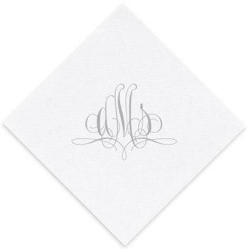 Paris Monogram Luxury AirLaid Napkin - Foil-Pressed