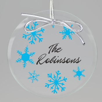 White Christmas Keepsake Printed Ornament