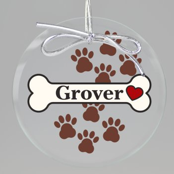 Pawsitively Yours Keepsake Printed Ornament
