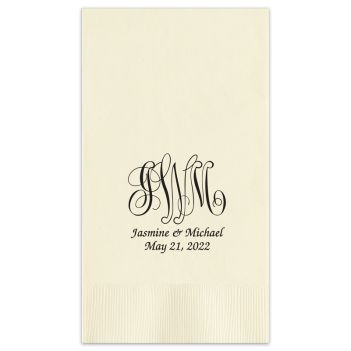 Pamplona Couples Wedding Guest Towel - Foil-Pressed