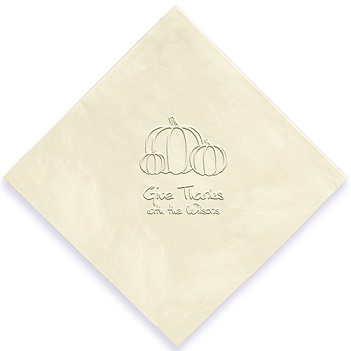 Autumn Napkin - Embossed