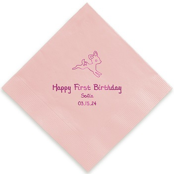 Animal Napkin - Foil-Pressed