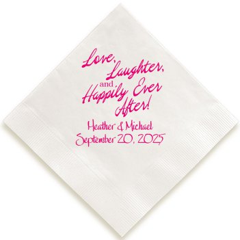 Happily Ever After Napkin - Foil-Pressed