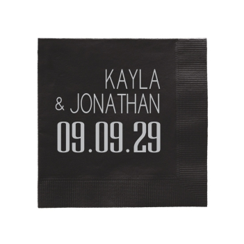 Soho Wedding Napkin - Foil-Pressed