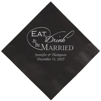 Wedded Bliss Napkin - Foil-Pressed