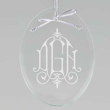Whitlock Monogram Keepsake Ornament - Oval