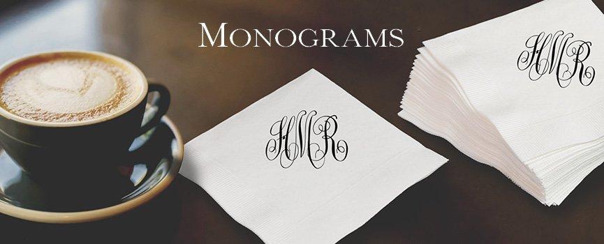 Monogrammed Gifts & Personalized Monogrammed Napkins u0026 Gifts | Napkinsin24.com
